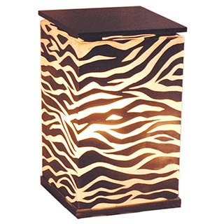 Decorative Topeka Brown Zebra Transitional Table Lamp