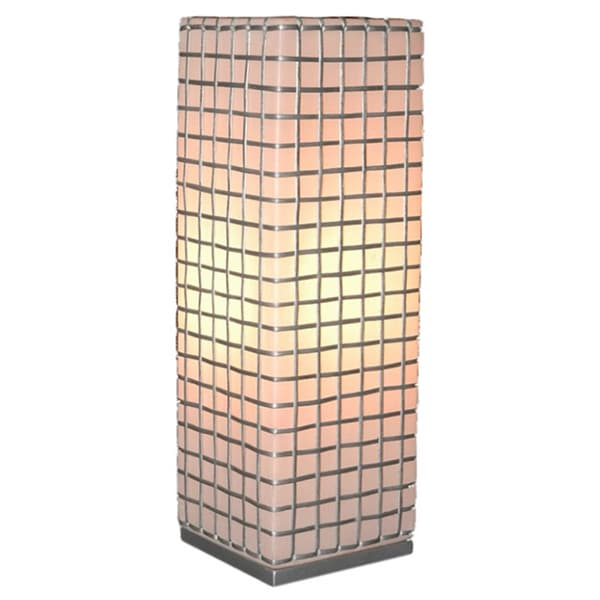 East At Main's Decorative Atchison Off-white Geometric Transitional Table Lamp