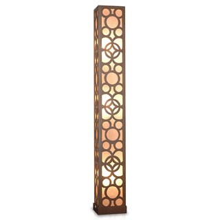 Decorative Amoret Brown Geometric Transitional Floor Lamp