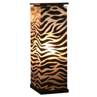 Decorative Topeka Brown Zebra Transitional Floor Lamp