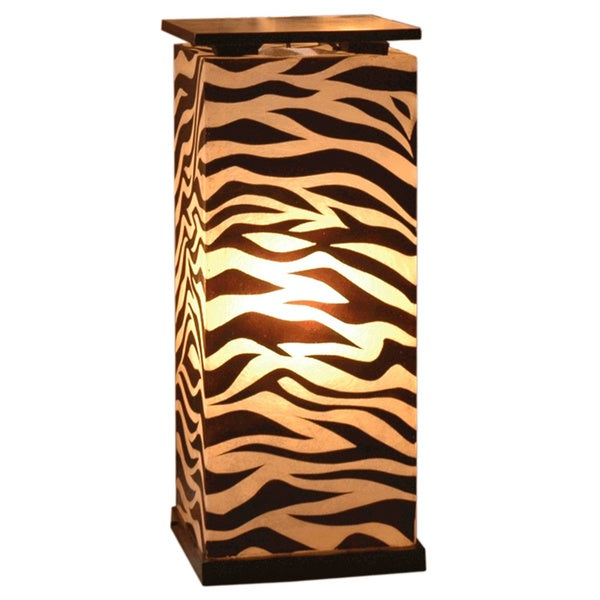 East At Main's Decorative Topeka Brown Zebra Transitional Floor Lamp