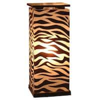 East At Main's Decorative Topeka Brown Zebra Transitional Floor Lamp