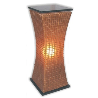 Decorative Mission Brown Geometric Transitional Floor Lamp