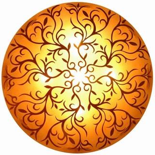 Decorative Neosho Gold Damask Transitional Hanging Pendant Lamp