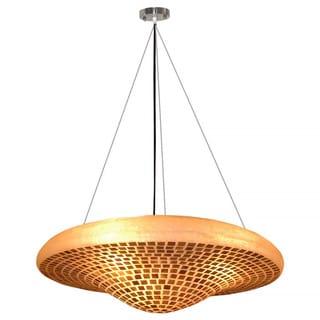 Decorative Bolivar Gold Geometric Transitional Hanging Pendant Lamp