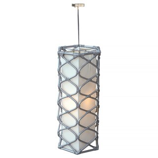 Decorative Bunceton Grey Geometric Transitional Hanging Pendant Lamp