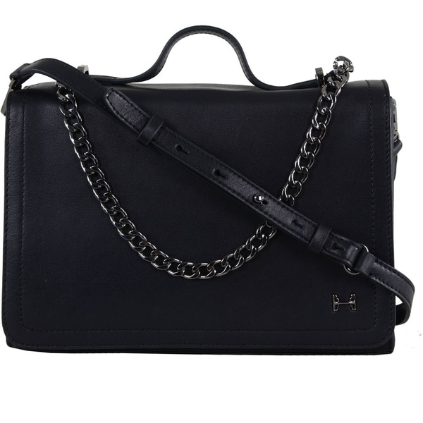 Shop Halston Leather Chain Handle Shoulder Bag - Free Shipping Today ... f16519de106a7