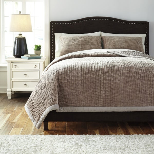 Shop Signature Designs By Ashley Hand Quilted Beige 3