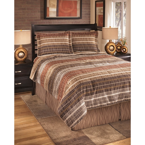 Signature Design by Ashley Wavelength Jewel 4-piece Comforter Set