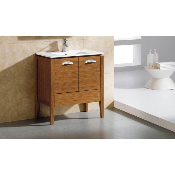 Attirant Fine Fixtures Manchester 30 Inch Vanity With Vitreous China Sink Top