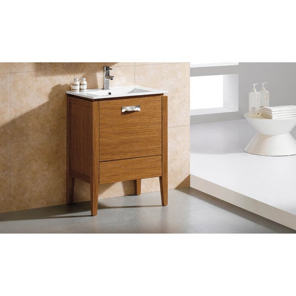 Shop fine fixtures manchester 20 inch vanity with vitreous - 20 inch bathroom vanity and sink ...