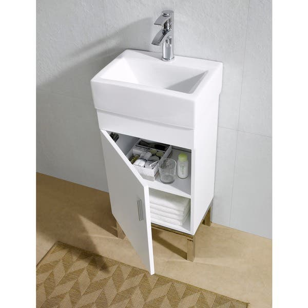 Fine Fixtures Fashion 17 Inch Vanity With Vitreous