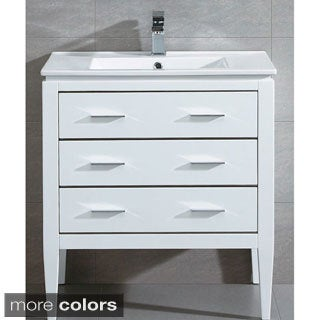 Fine Fixtures Ironwood 30-inch Vanity with Sink Faucet and Pop-up Drain