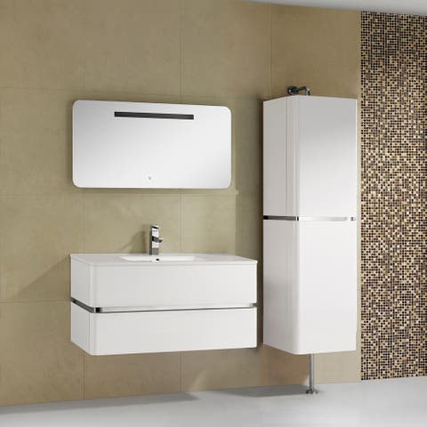 Fine Fixtures 'Sundance' 40-inch High Gloss Vanity with Vitreous China Sink Top