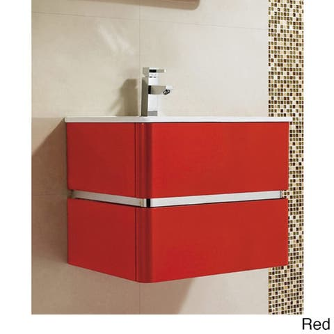 Fine Fixtures 'Sundance' 24-inch High Gloss Vanity with Vitreous China Sink Top