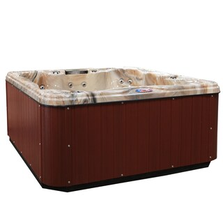 American Spas 6-person 30-Jet Lounger Spa with Backlit LED Waterfall (Option: Multi)