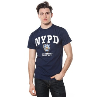 NYPD Adult Navy T-shirt with White Print