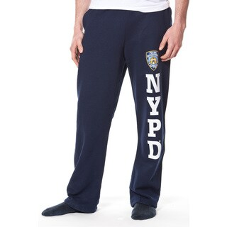 Adult NYPD Navy Fleece Pant with Leg Print