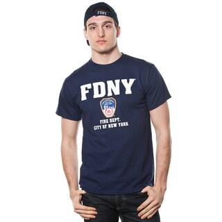 FDNY Adult Navy Logo with Emblem Print Tee