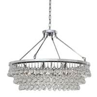 Celeste 10-light Glass and Crystal Chrome Chandelier