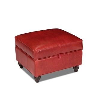 Bolero Cherry Benjamin Leather Storage Ottoman
