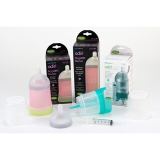 Adiri Newborn Infant Feeding System with Medicine Delivery Nurser (Option: Pink)