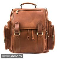 Musika Brooklyn Colombian Leather 17-inch Laptop Drawstring Backpack