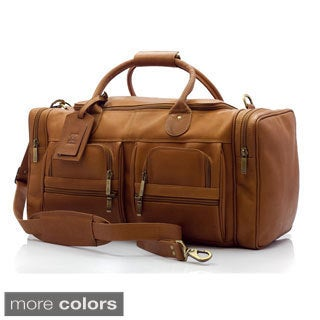 Muiska New York 22-inch Handmade Vaquetta Leather Executive Duffel Bag