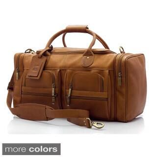 Muiska New York 22-inch Handmade Vaquetta Leather Executive Duffel Bag