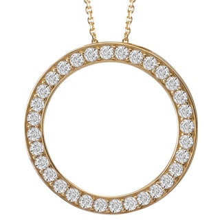 Avanti 14k Yellow Gold Cubic Zirconia Circle Necklace