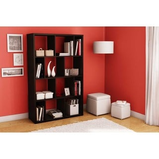 South Shore Reveal Chocolate Brown Shelving Unit with  8 Open/ 4 Closed Shelves