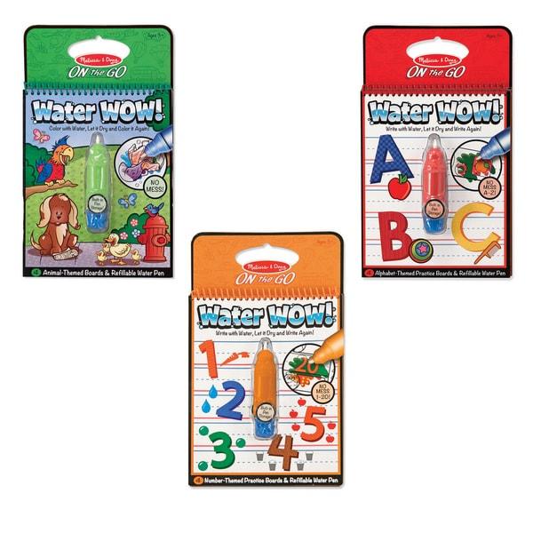 Melissa & Doug Water Wow Bundle Animals, Alphabet & Numbers