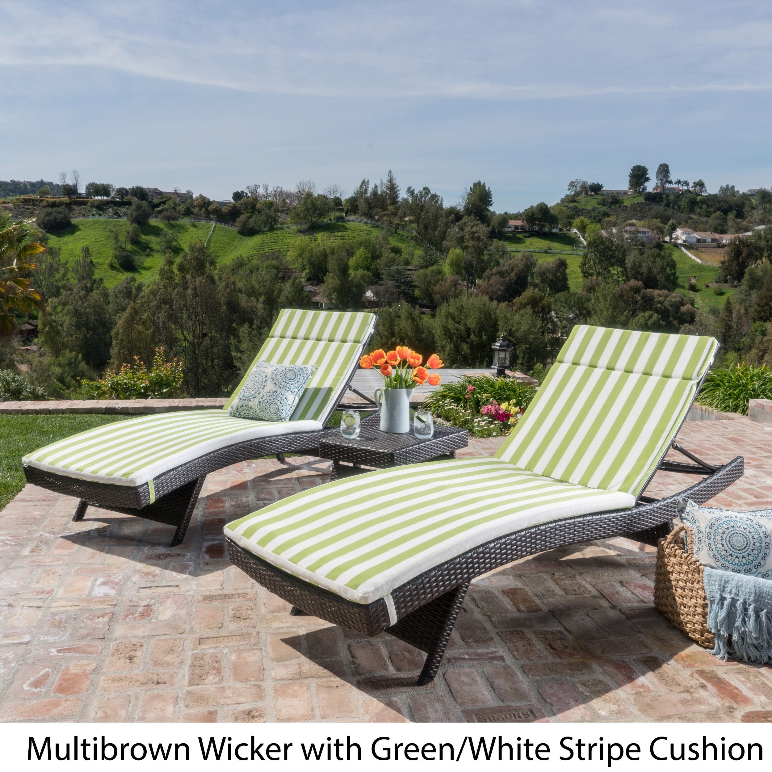 luana outdoor 3 piece wicker adjustable chaise lounge set with cushions by ebay. Black Bedroom Furniture Sets. Home Design Ideas