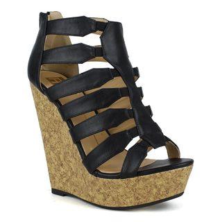 Fahrenheit Women's Setlla-03 Strappy Wedge Sandal