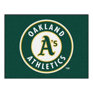 Fanmats Machine-Made Oakland Athletics Green Nylon Allstar Rug (2'8 x 3'8)