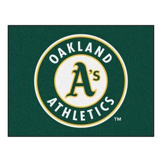 Fanmats Machine-Made Oakland Athletics Green Nylon Allstar Rug (2'8 x 3'8)
