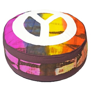 Tie-dye Cotton Pouf (India)