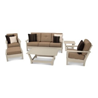 Ivy Terrace Artisan 6-piece Outdoor Deep Seating Chair, Sofa, and Table Set