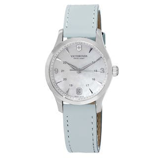 Swiss Army Women's V241661 'Alliance' Mother of Pearl Dial Light Blue Leather Strap Swiss Quartz Watch|https://ak1.ostkcdn.com/images/products/10045511/P17190434.jpg?impolicy=medium