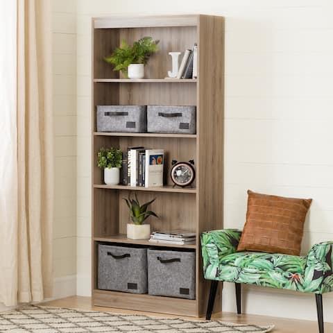 South S Furniture Wood 5 Shelf Bookcase