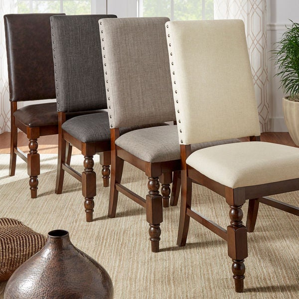 Set Of 2 Dining Chairs: Shop Flatiron Nailhead Upholstered Dining Chairs (Set Of 2