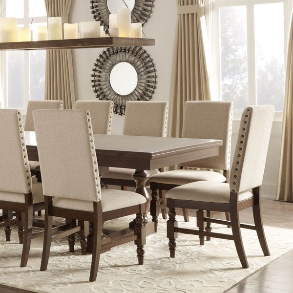 flatiron nailhead upholstered dining chairs (set of 2)inspire
