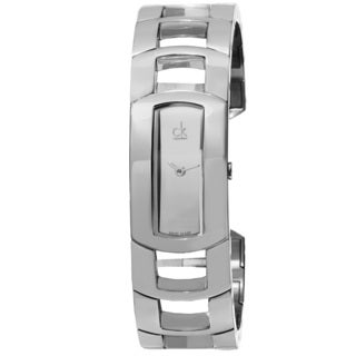 Calvin Klein Women's K3Y2S118 'Dress' Mirror Dial Stainless Steel Bangle Swiss Quartz Watch