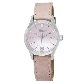 Swiss Army Women's V241663 'Alliance' Pink Mother of Pearl Dial Pink Leather Strap Swiss Quartz Watch