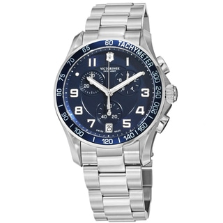 Swiss Army Men's V241652 'Chrono Classic' Blue Dial Stainless Steel Chronograph Swiss Quartz Watch