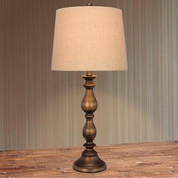 Metal Bronze Finish 27-inch Table Lamp