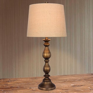 Metal Bronze Finish 27-inch Table Lamp