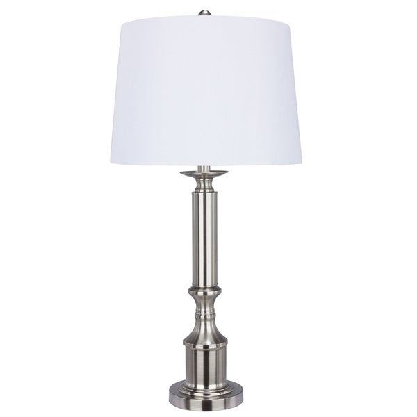 Metal Brushed Steel 29.5-inch Table Lamp