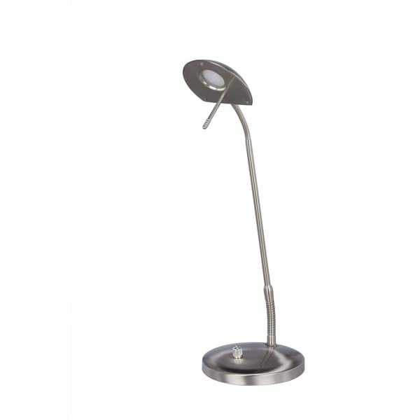 LED Metal Satin Chrome 22-inch Table Lamp