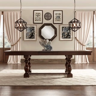 Tribecca Home Flatiron Baluster Extending Dining Table Set